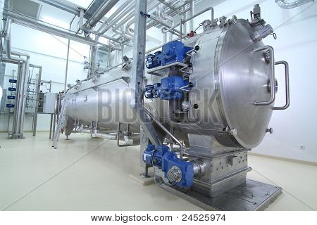 Machinery In A Pharmaceutical Production Plant