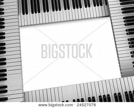 Tasten eines Klaviers Frame