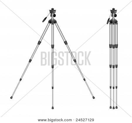 Tripod On A White Background