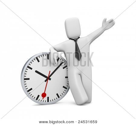 Business time. Image contain clipping path