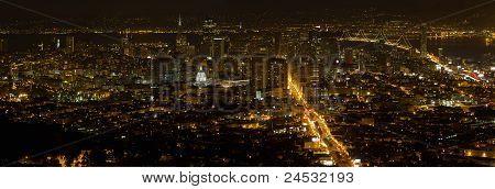 San Francisco vista da cidade no Panorama da noite