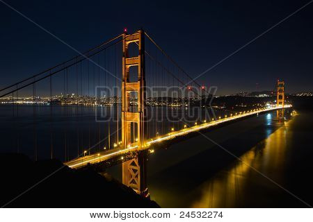 San Francisco Golden Gate Bridge a hora azul