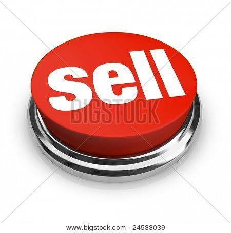 A red button with the word Sell on it, representing how easy it can be to start a business and offer goods or services for sale to customers