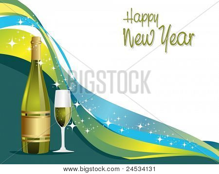 abstract stripes,star concept background for happy new year 2012