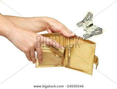 Spending Money Or Out Of Money Concept