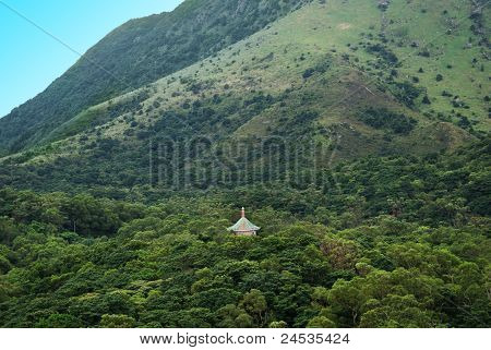 Temple in Hong Kong Mountain Side