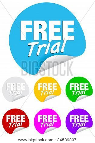 free trial,round stickers
