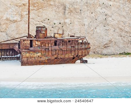 wreck ship in Zante beach