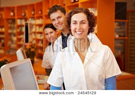 Pharmacist With Her Team
