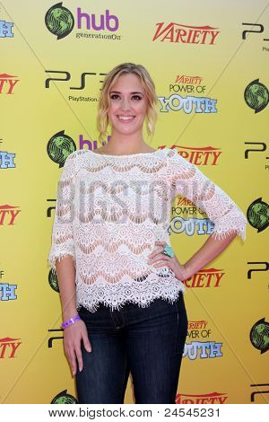 LOS ANGELES - OCT 22:  Andrea Bowen arriving at the 2011 Variety Power of Youth Evemt at the Paramount Studios on October 22, 2011 in Los Angeles, CA