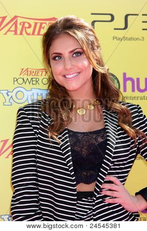 LOS ANGELES - OCT 22:  Cassie Scerbo arriving at the 2011 Variety Power of Youth Evemt at the Paramount Studios on October 22, 2011 in Los Angeles, CA