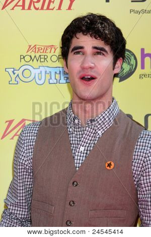 LOS ANGELES - OCT 22:  Darren Criss arriving at the 2011 Variety Power of Youth Evemt at the Paramount Studios on October 22, 2011 in Los Angeles, CA
