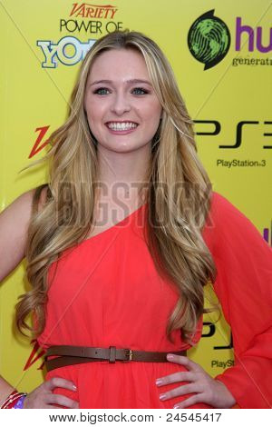 LOS ANGELES - OCT 22:  Greer Grammer arriving at the 2011 Variety Power of Youth Evemt at the Paramount Studios on October 22, 2011 in Los Angeles, CA