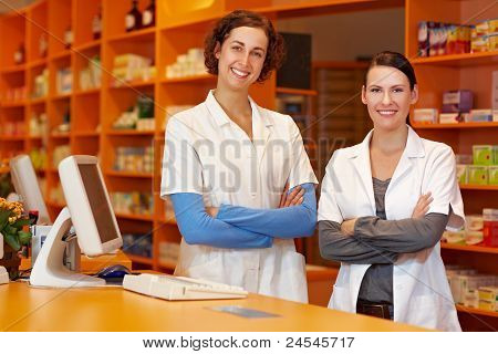 Two Confident Pharmacists