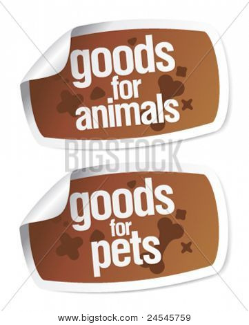 Goods for pets stickers set