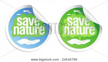 Save nature signs set.