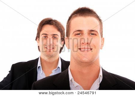 Two businessmen isolated on white background