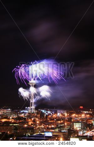 Fireworks On The Space Needle