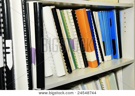 Library Shelf Full Of References