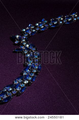 Sparkling Blue Neckalce