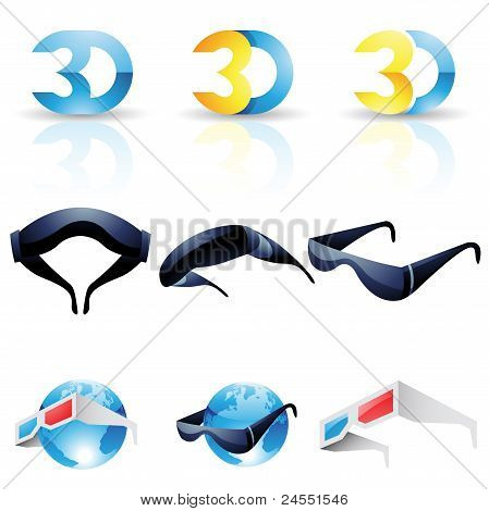 3D Stereoscopic Glasses