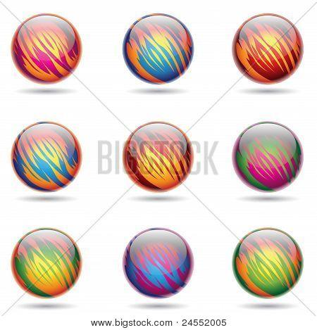 Glossy Planet Like Spheres