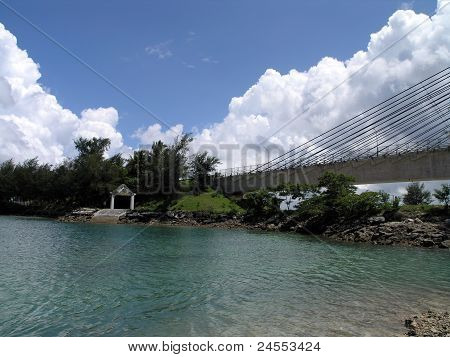 Koror Side Of The Bridge And Shore Of Koror-babeldaob Bridge, Palau