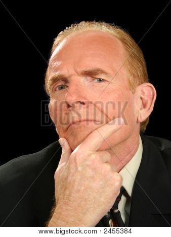 Pondering Businessman
