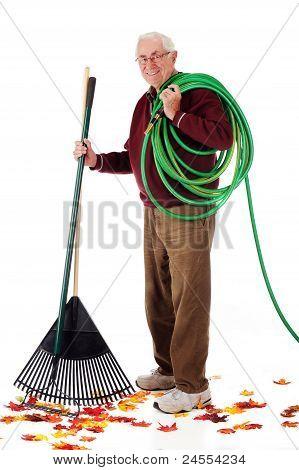 Senior Fall Gardener