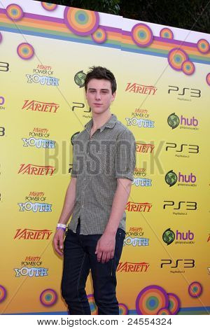 LOS ANGELES - OCT 22:  Sterling Beaumon arriving at the 2011 Variety Power of Youth Evemt at the Paramount Studios on October 22, 2011 in Los Angeles, CA