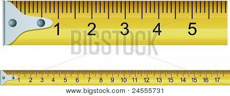 Vector Illustration Of A Measuring Tape
