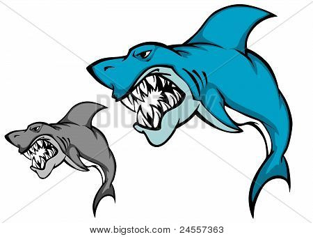 Danger Shark With Sharp Tooth