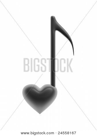 Heart And Music Symbol