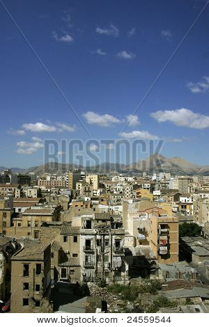 Palermo viewed from the top
