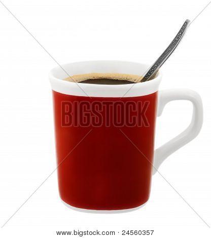 Tasse Kaffee mit Löffel