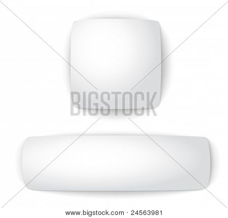 Blank convex web buttons