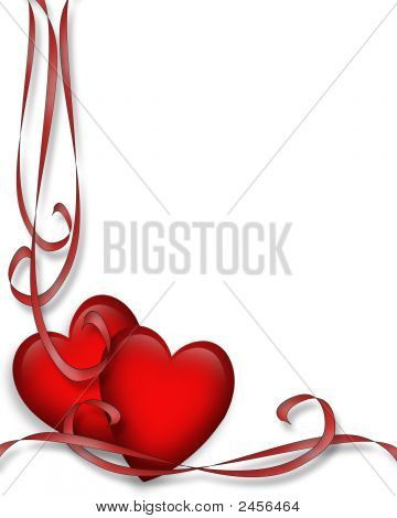 Red Hearts Vertical