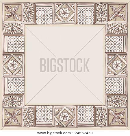 Cornice entablature - hand draw sketch doric architectural order. Bitmap copy my vector ID 84869041