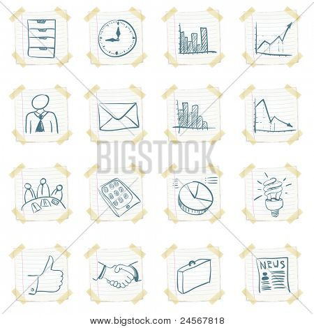 Sticker Icon Set Isolated on White Background. Vector EPS8.