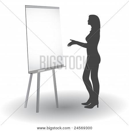 Women at the blackboard