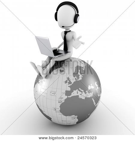 3D Man online Call-center