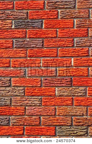 A beautiful background of freshly laid bricks