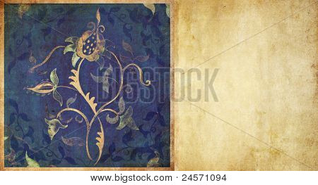 floral earthy background and design element