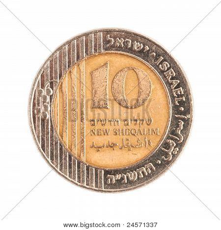 Ten Israeli New Sheqels
