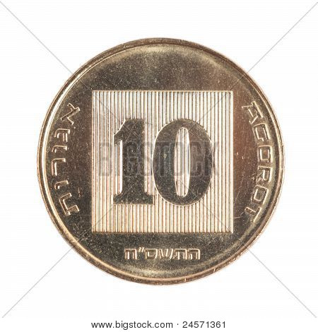 Ten Israeli New Sheqel Cents