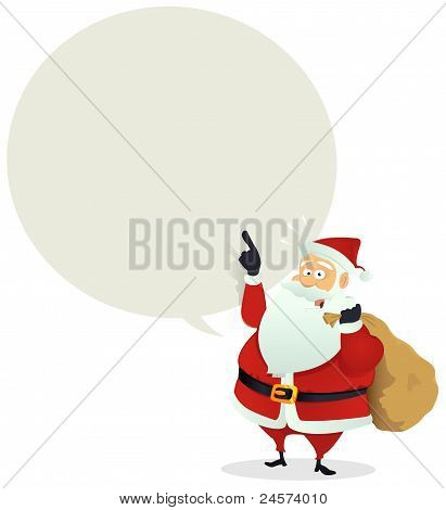 Santa Delivery - Speech Bubble Message