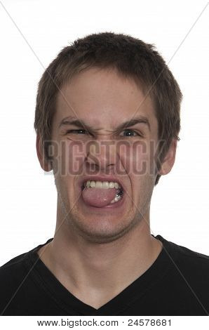 Teenage Boy Making Funny Expression