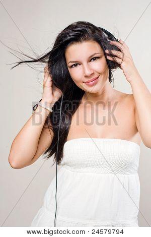 Beautiful Brunette Music Lover.