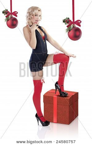 The Christmas Lady Pin Up