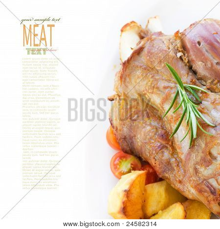 Veal Knuckle With Potatoes